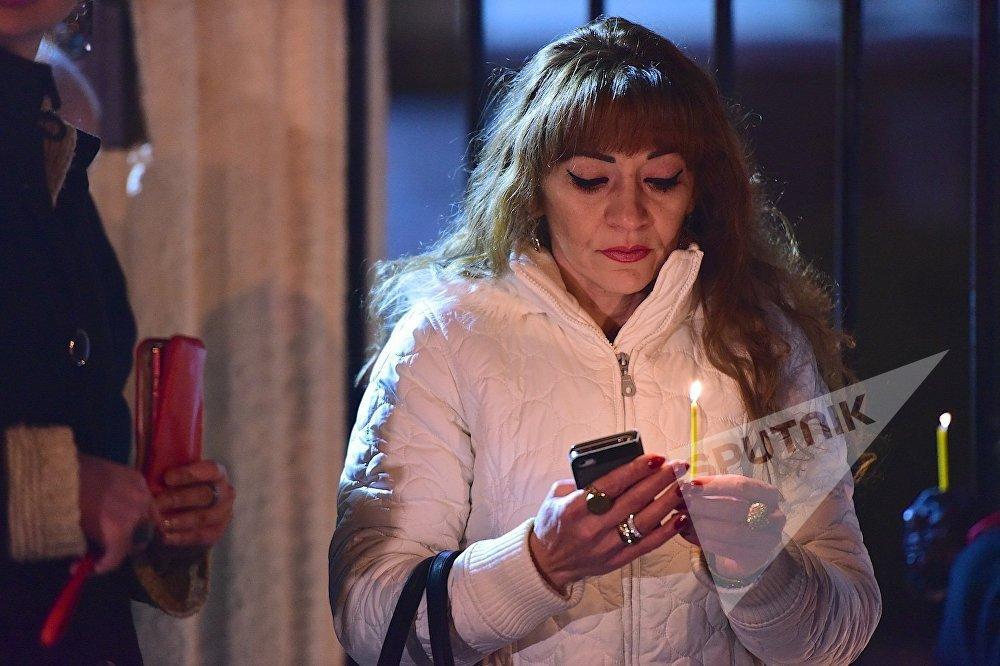 ანდრეი კარლოვის ხსნოვნისადმი მიძღვნილი აქცია რუსეთის ინტერესების სექციასთან