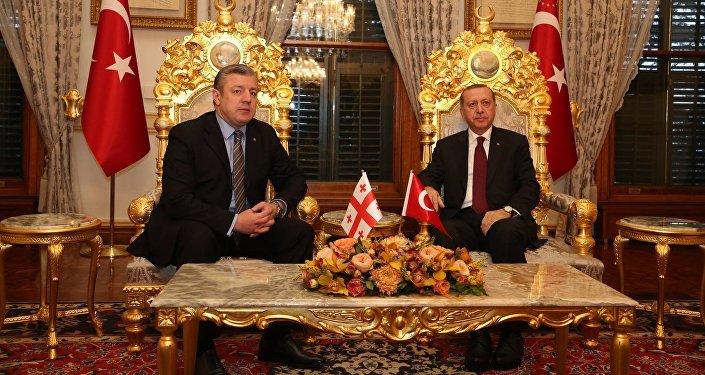Встреча премьер-министра Грузии Георгия Квирикашвили и президента Турции Реджепа Тайипа Эрдогана