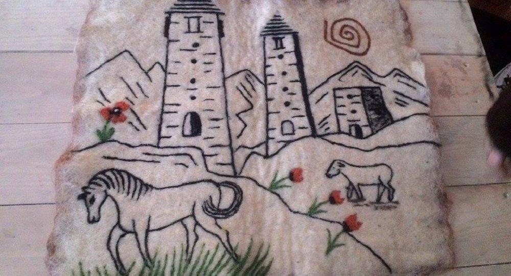 გობელენზე შესრულებული ნახატი