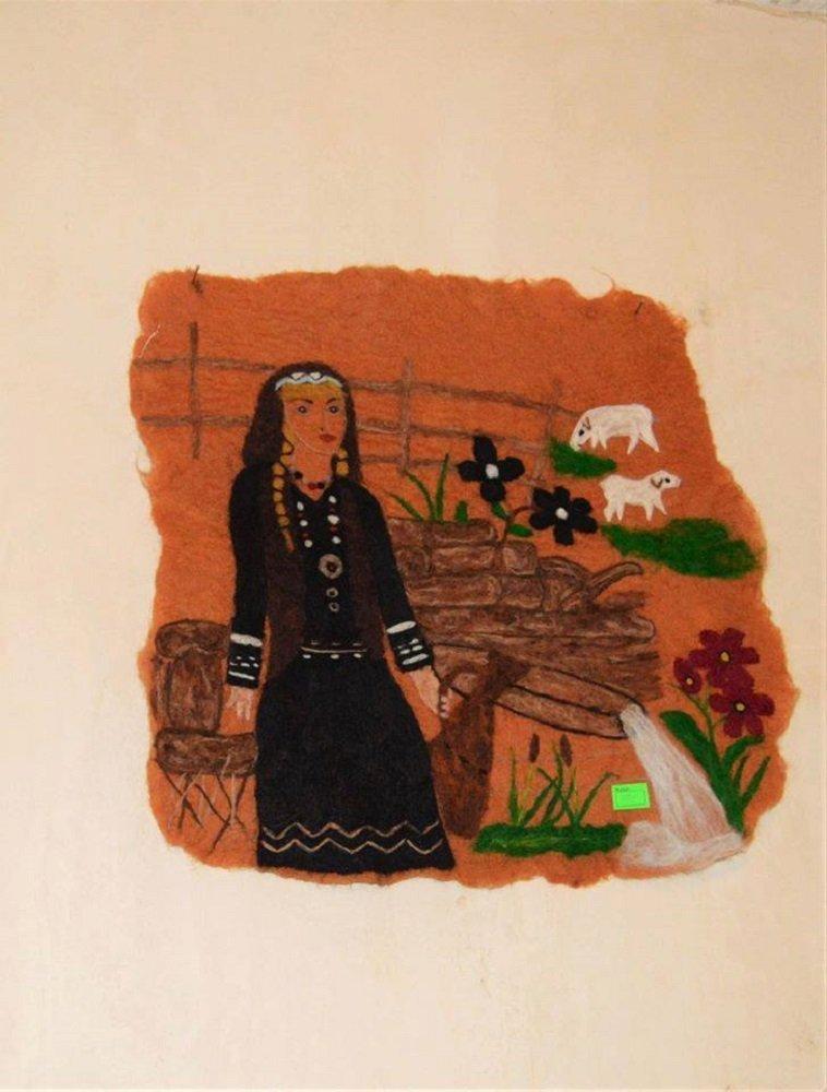 თექაზე შესრულებული ნახატი