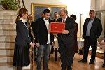Церемония награждения Георгия Овашвили