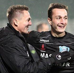 Нападающий сборной Грузии по футболу и датского клуба Силькеборг Давид Схиртладзе
