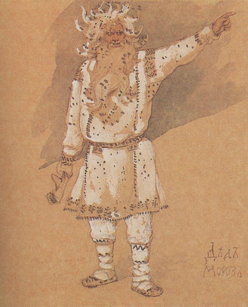 «Дед Мороз», В. М. Васнецов, 1885.