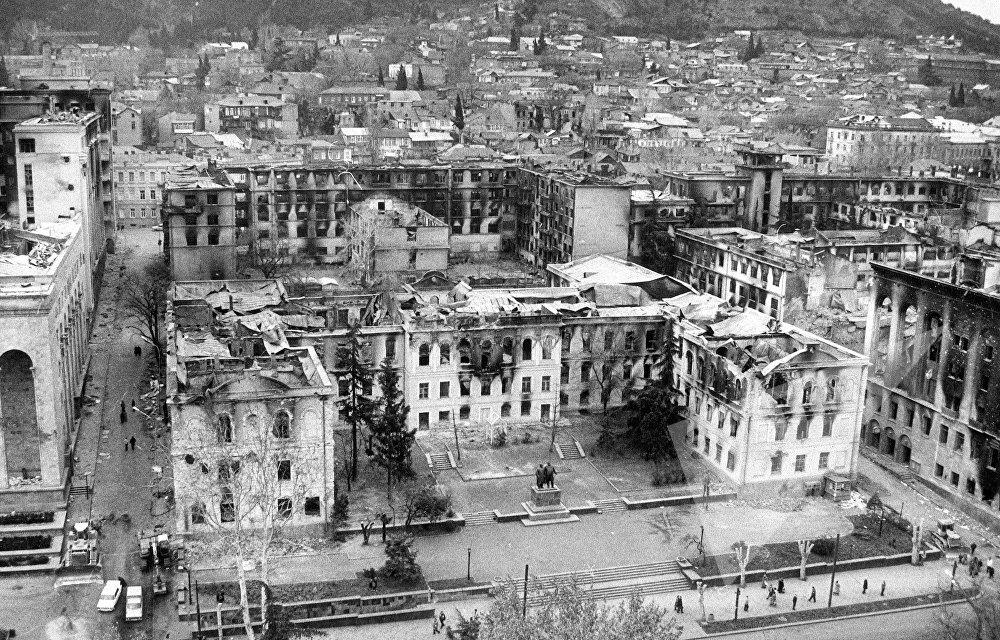 პირველი სკოლის შენობა სამოქალაქო ომის დროს