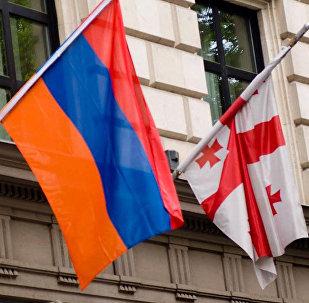 Флаги Армении и Грузии