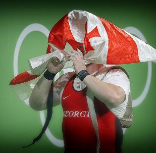 Грузинский спортсмен тяжеловес Лаша Талахадзе на Олимпиаде в Рио