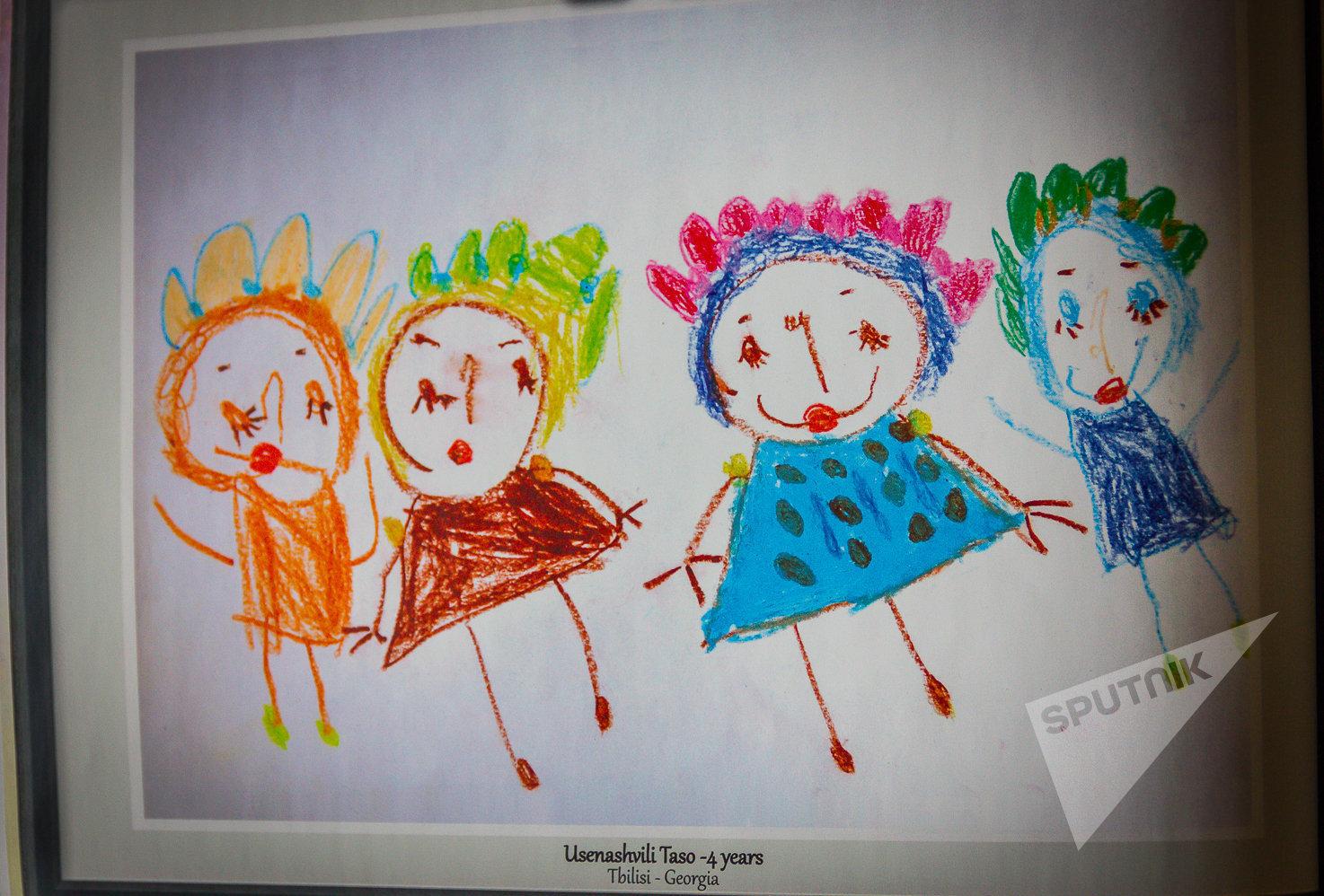 Рисунок для международного конкурса Нарисуй мне мир