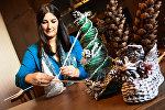 Новогодние украшения: елочка из макулатуры