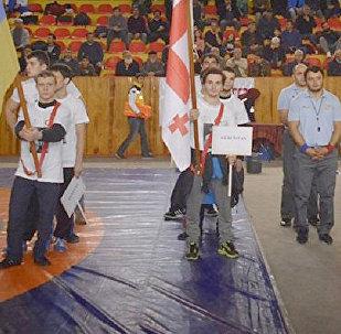 Сборная Грузии на международном турнире по борьбе в Турции