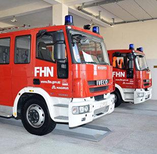 Пожарные машины МЧС Азербайджана. Архивное фото