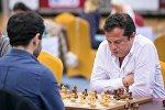 Грузинский шахматист Леван Панцулая на чемпионате мира по быстрым и блиц шахматам в Дохе