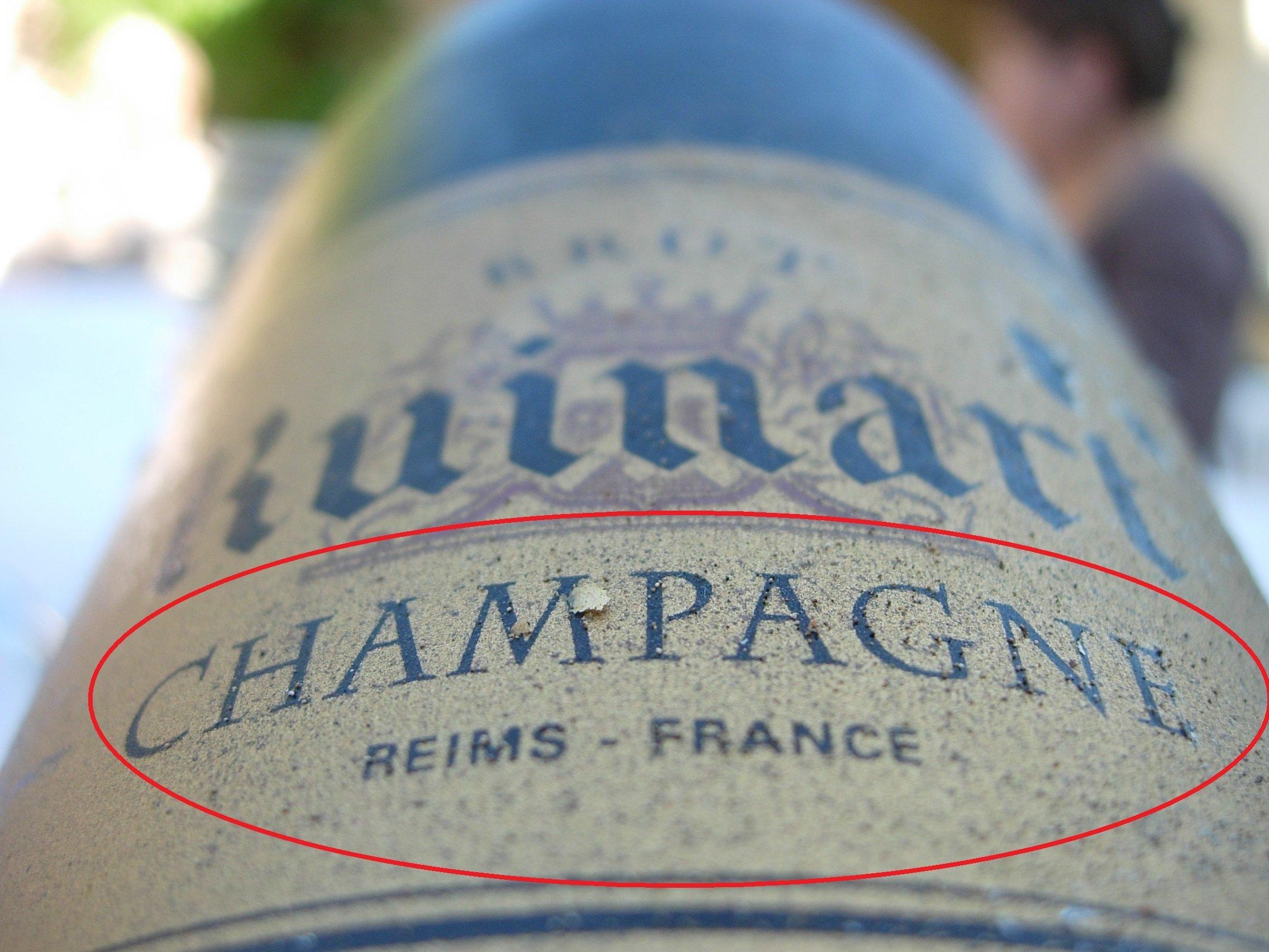 დასახელება Champagne-ის გამოყენება აკრძალულია შამპანის პროვინციის მიღმა დამზადებულ ყველა სასმელზე