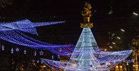 Праздничные огни новогоднего Тбилиси