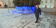 Путин осмотрел главную новогоднюю ель и археологические шурфы в Кремле