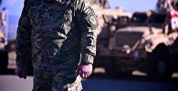 Военнослужащий грузинской армии на территории учебного центра Грузия-НАТО JTEC на территории военной базы в Крцаниси