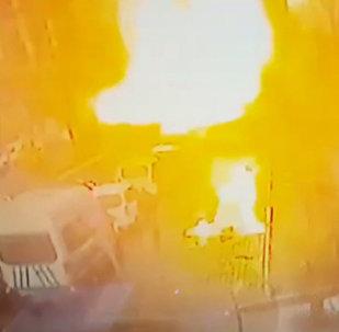 იზმირში სასამართლოს შენობასთან მომხდარი აფეთქების კადრები