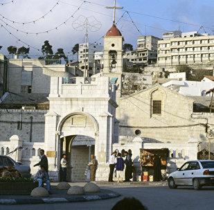 Православный греческий храм в городе Назарете