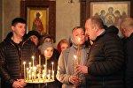 Президент Грузии Георгий Маргвелашвили с супругой Макой Чичуа в церкви