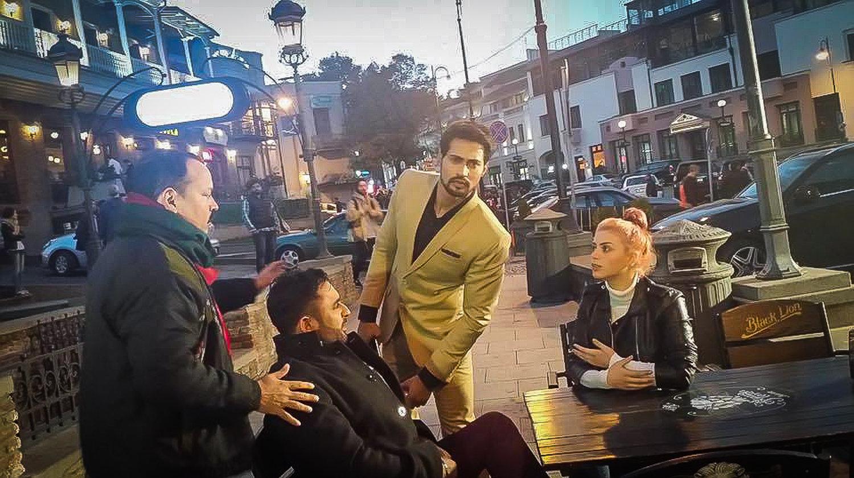 რაჯა სუკდიფსინგჰი  ინდური ფილმის გადაღებებზე საქართველოში