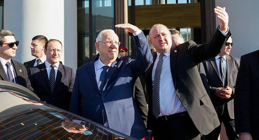Президент Израиля Реувен Ривлин и президент Грузии Георгий Маргвелашвили