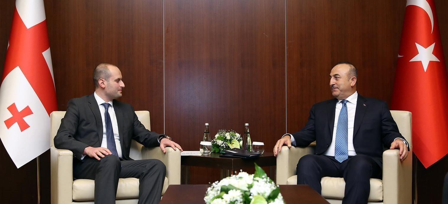 Встреча глав МИД Грузии и Турции Михаила Джанелидзе и Мевлюта Чавушоглу в Анкаре