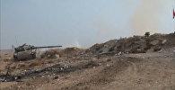 Наступление сирийской армии на боевиков в пригороде Дамаска. Кадры боев