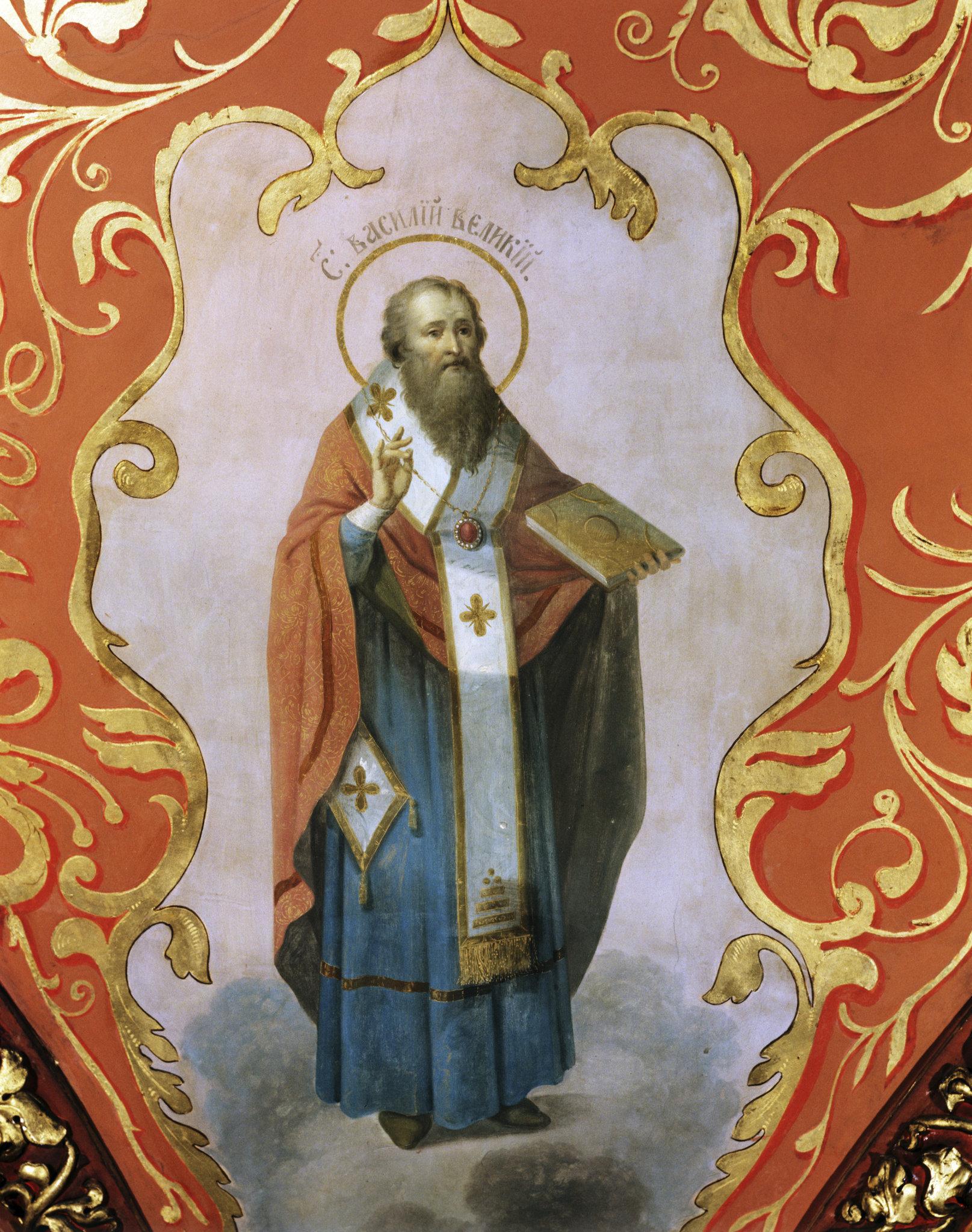 Святой Василий Великий. Потолочная фреска Тронного зала Теремного дворца Московского Кремля