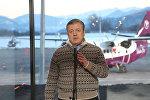 Премьер-министр Грузии Георгий Квирикашвили на открытии аэропорта в Амбролаури