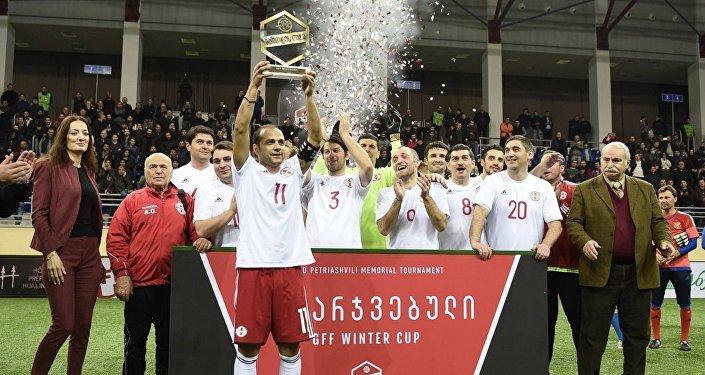 Футбол. Сборная ветеранов Грузии выиграла Зимний Кубок