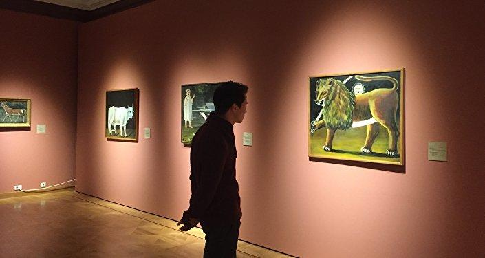 Картина Нико Пиросмани Иранский лев