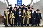 Церемония вручения награждения иностранных профессоров званием почетного доктора ТГУ