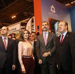 Георгий Квирикашвили ознакомил королевскую чету Испании с туристическим потенциалом Грузии.