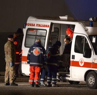 Автомобиль итальянской скорой помощи. Архивное фото