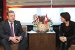 Встреча премьер-министра Грузии Георгия Квирикашвили с президентом Швейцарии Дорис Лойтхард