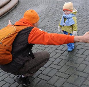 Флэшмоб, посвященный Всемирному Дню доброты, на Манежной площади в Москве