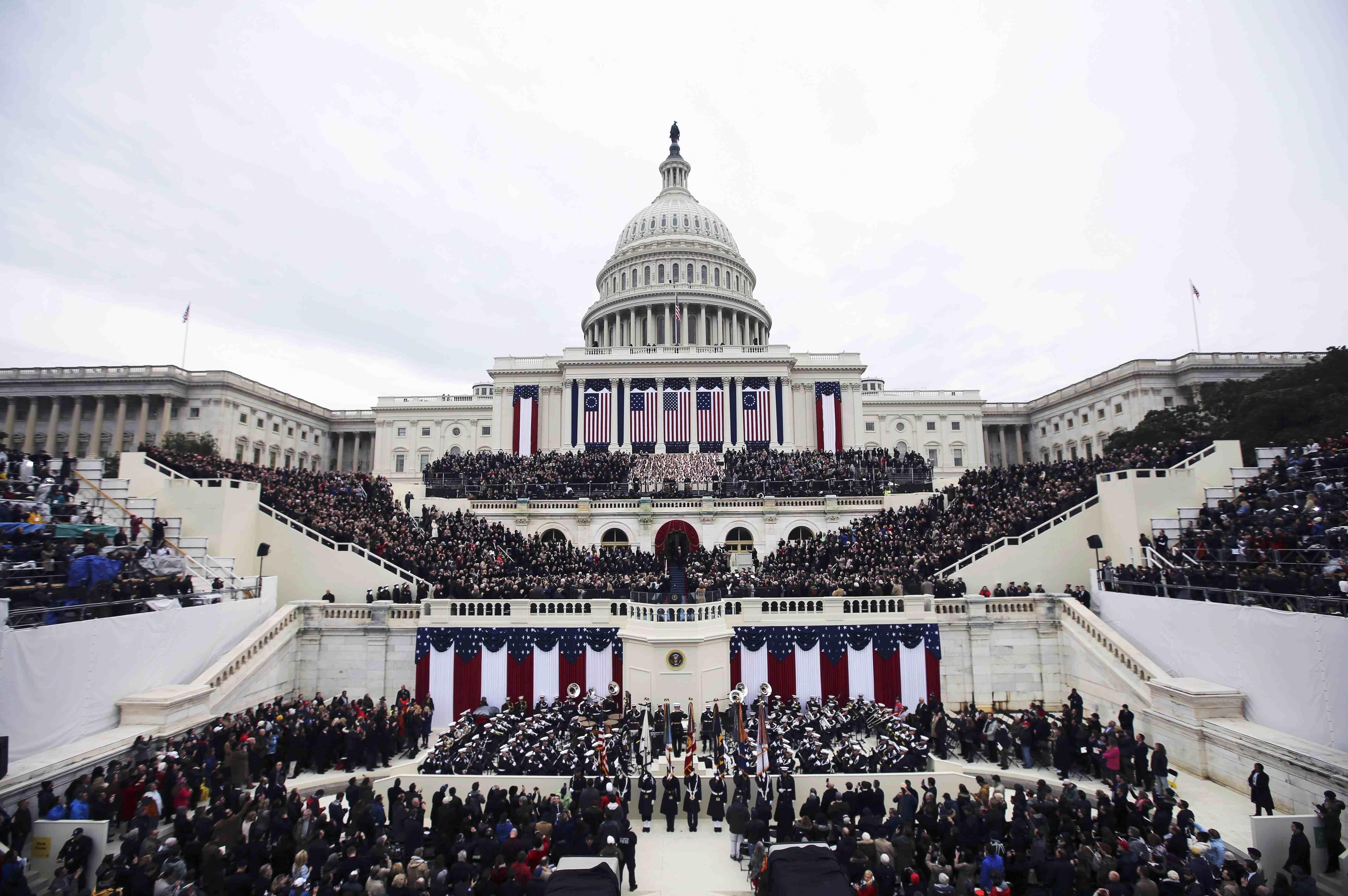 Церемония инаугурации 45-го президента США Дональда Трампа