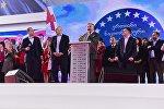 Георгий Барамидзе представляет кандидатуру Ники Мелия на должность главы политсовета ЕНД на партийном съезде