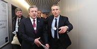 Премьер-министр Грузии Георгий Квирикашвили и генсек НАТО Йенс Столтенберг