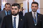 Глава делегации сирийской оппозиции Мухаммед Аллуш из группировки Джейш аль-Ислам