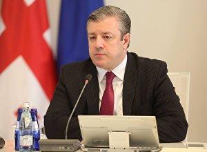 Премьер-министр Грузии Георгий Квирикашвили на заседании правительства