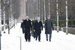 Министры обороны Финляндии и Грузии Юсси Ниинисте и Леван Изория в Хельсинки