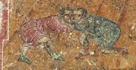 Сцена грузинской борьбы