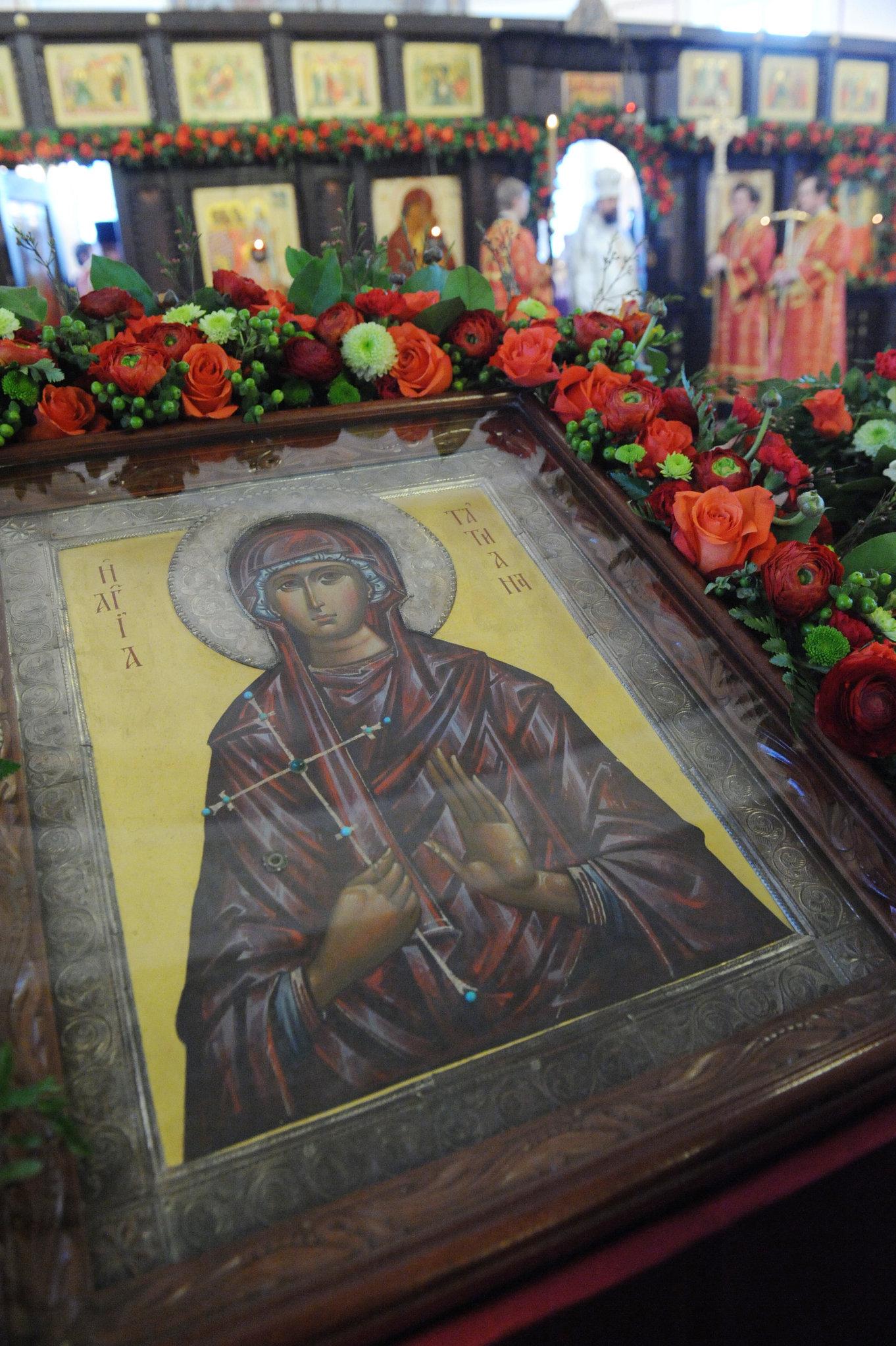 Икона святой мученицы Татианы в домовом храме Московского государственного университета