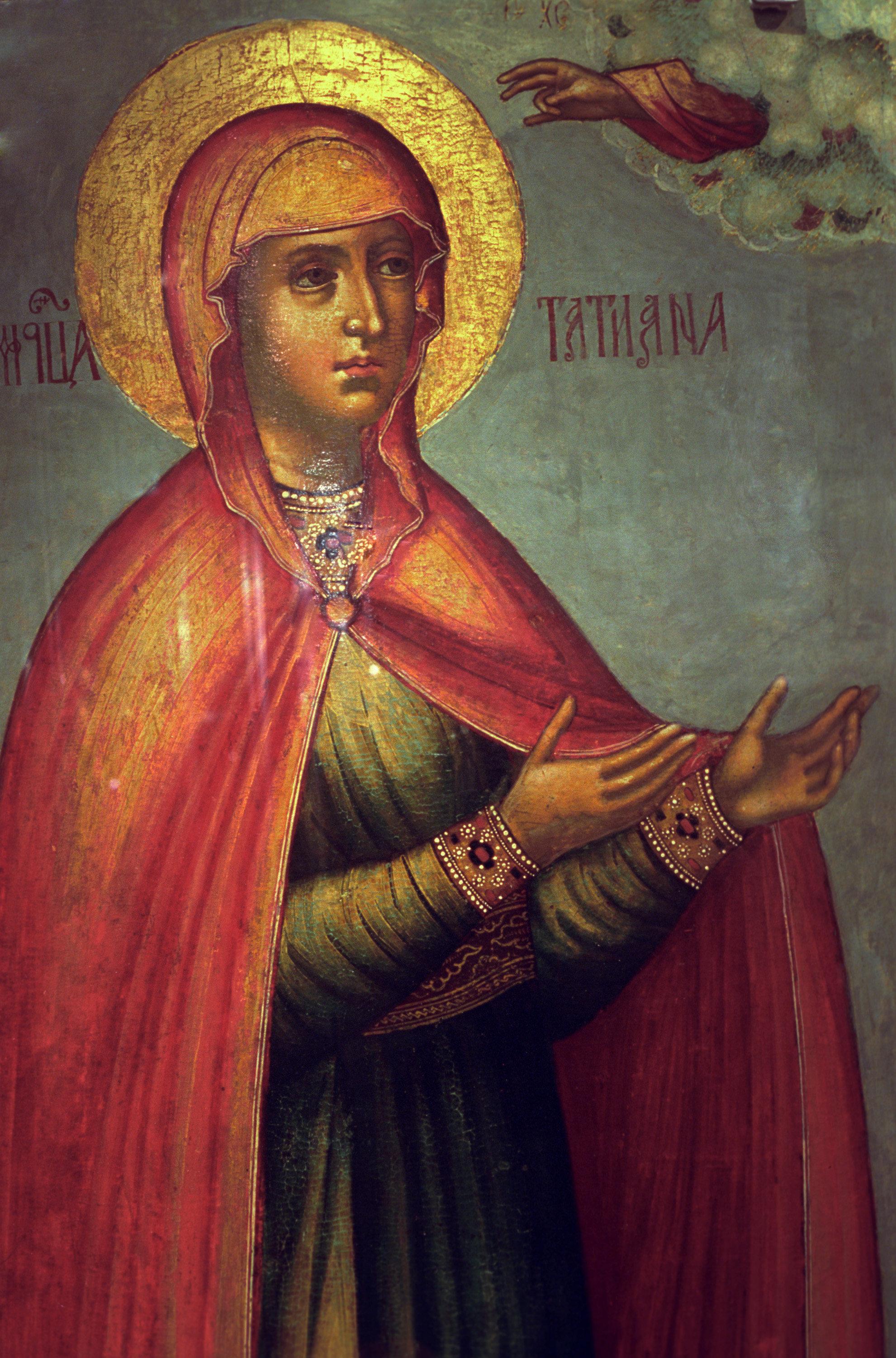 Икона Святая Татиана в Новодевичьем монастыре