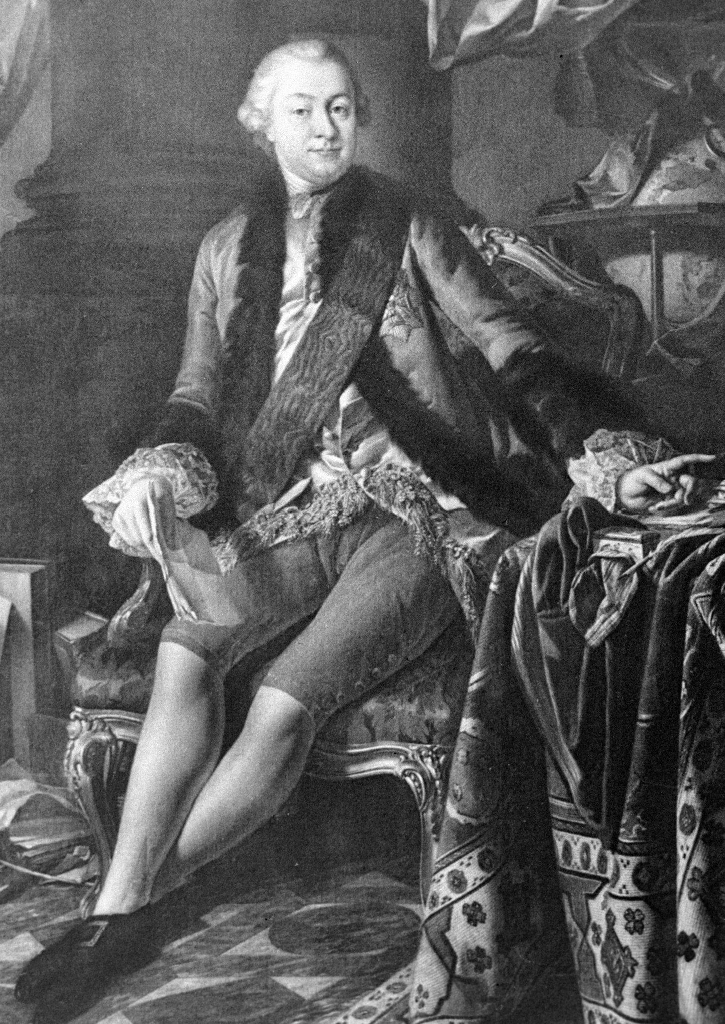 Портрет основателя Московского университета Ивана Шувалова