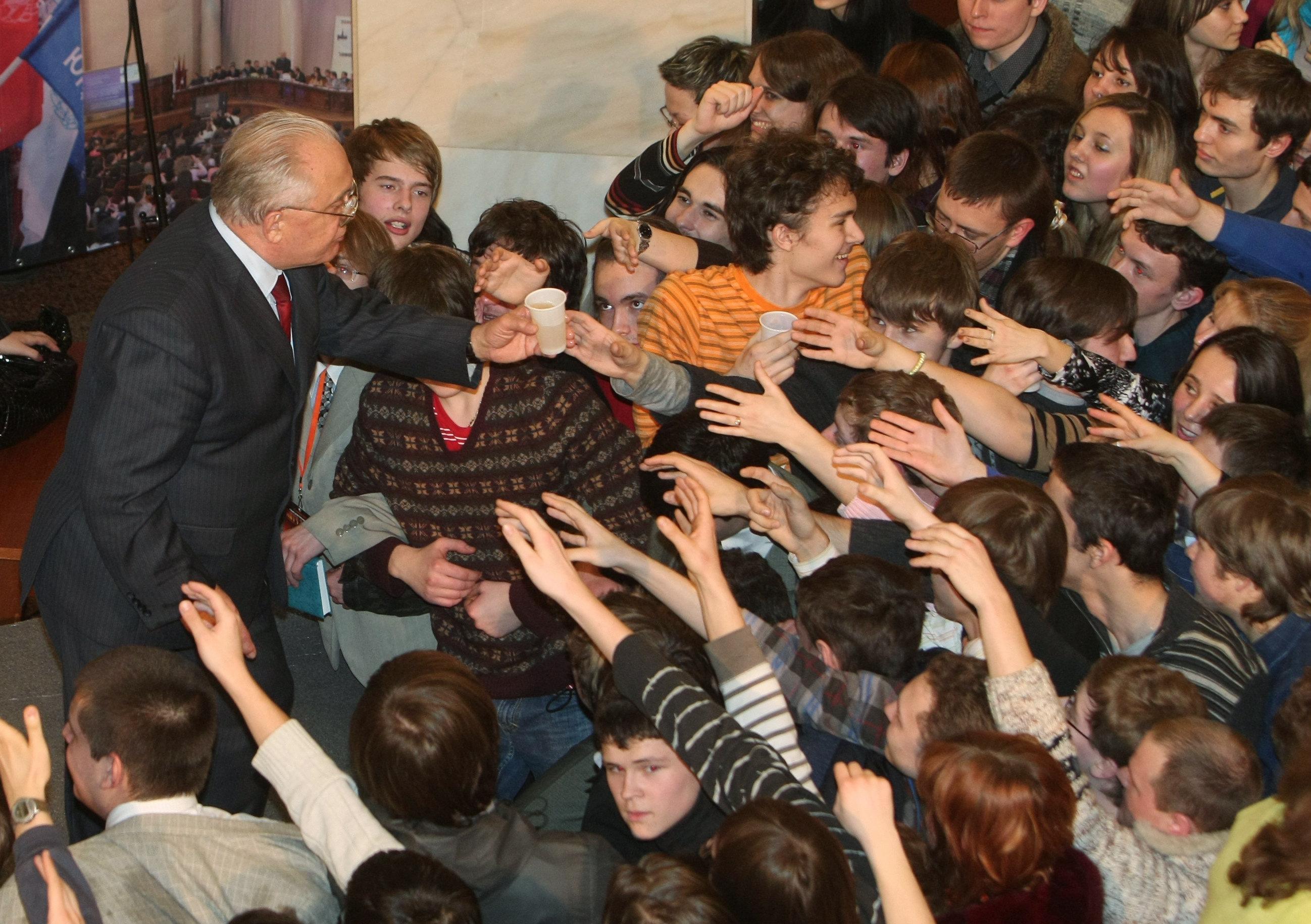 Ректор МГУ Виктор Садовничий на праздновании Дня студента