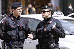 Полиция на одной из улиц Милана