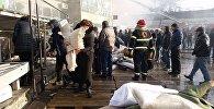 Пожар на Вокзальной площади в Тбилиси