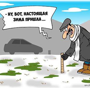 Зима по-тбилисски