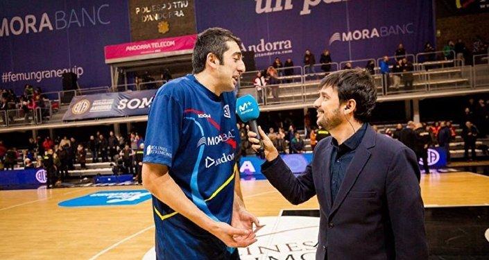 Баскетбол. Центровой испанского клуба Морабанк Андорра Георгий Шермадини